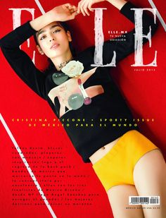 Cristina Piccone featured on the Elle Mexico cover from July 2015