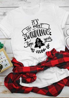 It's The Most Wonderful Time Of The Year Christmas T-Shirt. Spend your Christmas in comfort and style in this cute and fun tee. Wear this wonderful Christmas Tree tee and enjoy happiness with your family. High-quality and flash shipping! Big Discount and Limited Time ONLY! #WonderfulTime #christmastees #christmastshirts #christmasoutfits #womenstops