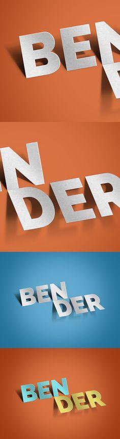 Bender Text Effect #PSD