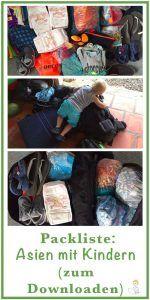 Packliste Südostasien – Backpacking mit Kleinkind