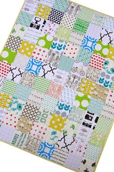 Modern Patchwork Quilt for Baby and Toddler by redpepperquilts