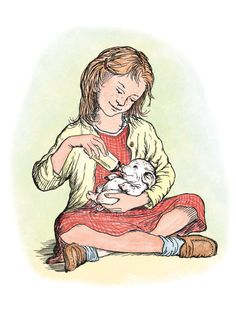 I adored this particular illustration in Charlotte's Web. It made me want a piglet of my own!!!