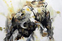 Toro 2 Painting by J- J- Espinoza