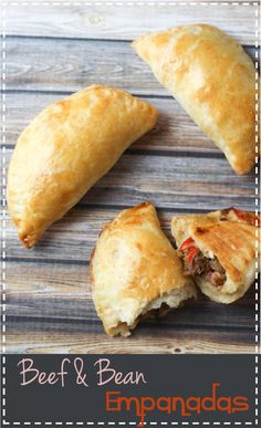 Beef & Bean Empanadas - with an easy pastry recipe!