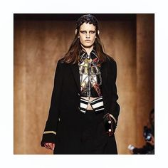 Net-A-Porter via Instagram: AW16 at Givenchy was a psychedelic Egyptian mix with military details and sporty elements thrown in for good measure