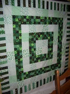 Celtic Heart Knitting and Quilting: St. Patrick's Day Quilt