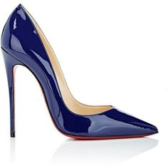 Christian Louboutin Women's So Kate Patent Leather Pumps ($675) ❤ liked on Polyvore featuring shoes, pumps, heels, turquoise, pointy toe pumps, pointed toe high heel pumps, blue pointed toe pumps, high heel shoes and high heel stilettos