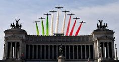 SATURDAY, JUNE 3: ROME  -  The Italian Air Force aerobatic unit Frecce Tricolori (Tricolor Arrows) spreads smoke with the colors of the Italian flag over the Vittoriano Monument, on June 2, 2017 in Rome during the Republic Day ceremony.