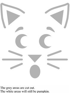 kitty cat pumpkin carving template | best stuff