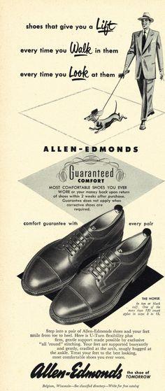 Allen Edmonds & The Campus Alpine Shoe Trend - Ivy Style Mode Vintage, Vintage Shoes, Vintage Ads, Retro Fashion, Mens Fashion, Vintage Fashion, Allen Edmonds Shoes, Shoes Ads, Gentleman Shoes