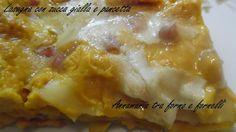 lasagna con zucca gialla e pancetta
