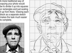 Drawing with a grid - I loved drawing/enlarging like this back in high school. It's makes so much sense to me.
