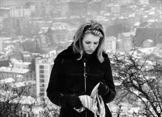 Marie-Christine Barrault during the filming of Ma nuit chez Maud (Éric Rohmer, 1969)