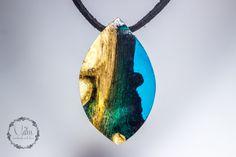 wood resin pendant