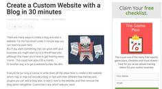 Create a Custom Website with a Blog in 30 minutes and for $5/month with your own custom domain name