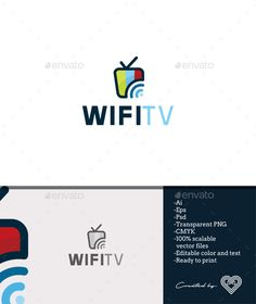 Wifi Tv — Photoshop PSD #television #web • Available here → https://graphicriver.net/item/wifi-tv/18411250?ref=pxcr