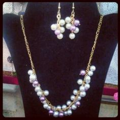 Awesome set $20 necklace $14 earrings $10 email me at Mybeadsyourbeauty@gmail.com