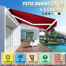 Feature Pu Coated 300g M2 Polyester Fabric Water Resistant 6 Colours And 4 Sizes Available Easy To Cle Shade Sails Patio Sun Sail Shade Shade Sail