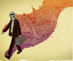 The traveler - Illustrations by Alex Solis