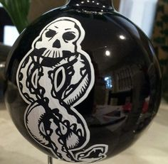 "Hand-Painted Christmas Ornament (3 1/4"") - Death Eaters - Dark Mark - Harry Potter. $10.00, via Etsy."