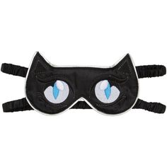 Karl Lagerfeld Women Cat Sleeping Mask (96 SGD) ❤ liked on Polyvore featuring black and karl lagerfeld