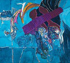 """ציוריו של משה גבעתי (נ. 1934) נעים בין הלירי לפיגורטיבי והם הוצגו בתערוכות הנחשבות לסימני דרך בתולדות האמנות הישראלית. ביניהן תערוכות של קבוצת """"10+"""".  ב 2006 הציג מוזיאון תל אביב לאמנות תערוכת מקיפה של יצירותיו.This art work painted by Moshe Givati"""