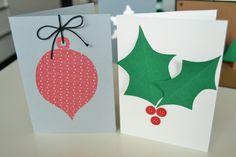 Tarjetas navideñas hechas a mano