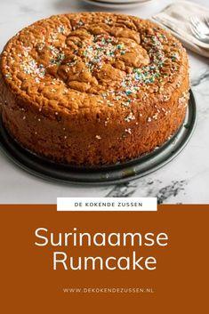Dutch Recipes, Sweet Recipes, Sweets Cake, Cupcake Cakes, Bakery Recipes, Dessert Recipes, Best Vanilla Cake Recipe, Rum Cake, Sweet Pie