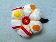 fabric flower puff
