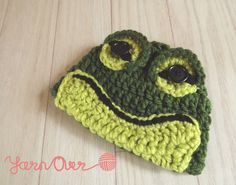 Hop To It - Frog Beanie - Newborn/Baby/Toddler/Child - Made to Order. $20.00, via Etsy.