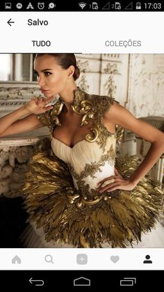 """jeza-red: """" inkxlenses: """"Golden Phoenix (Olga Malyarova) """" Oh, Kulve Taroth And her armour set """" Ballet Costumes, Dance Costumes, Art Costume, Haute Couture Dresses, Couture Fashion, Golden Phoenix, Ballet Tutu, Dance Photography, High End Fashion"""