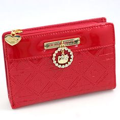 Hello Kitty Enamel with Zipper Purse!