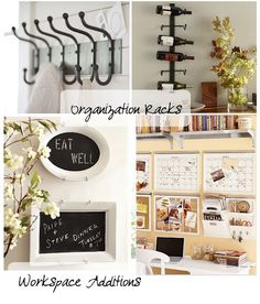 I like the idea of using something you wouldn't think of as a chalkboard for a chalkboard, but don't know that I'd hang plates on the wall.