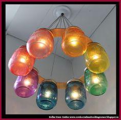 Dollar Store Crafter: Mason Jars Hanging Lamp