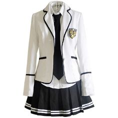 Nuotuo Women's High school British style uniforms Japanese class... ($50) ❤ liked on Polyvore featuring dresses
