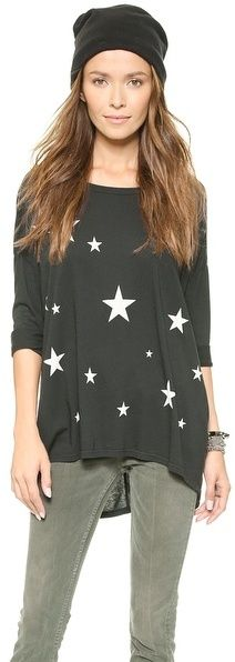 {SUNDRY Star 3/4 Sleeve Tunic} The stars are whimsical, but not too juvenile.