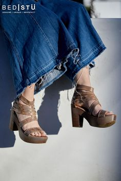 An ever popular womens leather sandal Adelia comes forth on a sustainable wood heel for the look reinvented. Artemis, Vegetable Tanned Leather, Leather Sandals, Pine, Whimsical, Sunshine, Feminine, Platform, Zipper
