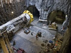 Construction of the Second Avenue subway line in New York City.