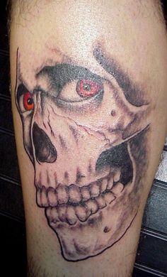 Pics Photos - Tattoo Ideas Skull Tattoo Designs And Rib Tattoos For Guys, Simple Tattoos For Guys, Lower Arm Tattoos, Neck Tattoo For Guys, Small Forearm Tattoos, Cool Small Tattoos, Evil Skull Tattoo, Evil Tattoos, Scary Tattoos