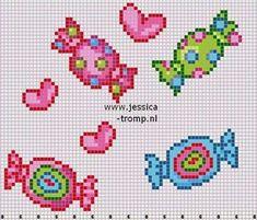 schema punto croce caramelle | Hobby lavori femminili - ricamo - uncinetto - maglia
