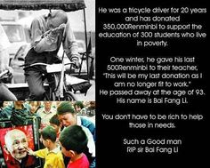 You don't have to be rich to help those less fortunate.