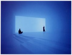 """Wide Out (1998) by James Turrell -- Turrell creates a similar experience of """"Ganzfeld"""": a German word to describe the phenomenon of the total loss of depth perception as in the experience of a white-out."""