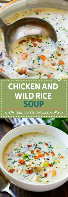 Chicken and Wild Rice Soup Recipe | Creamy Chicken Soup | Chicken and Rice Soup | Panera Bread Chicken and Wild Rice Soup