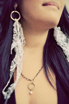 Lace earrings :)