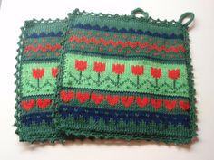 Knitting Charts, Knitting Patterns Free, Free Pattern, Crochet Patterns, Crochet Potholders, Knit Dishcloth, Knit Crochet, Pot Holders, Tatting