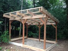 There are lots of pergola designs for you to choose from. First of all you have to decide where you are going to have your pergola and how much shade you want. Diy Pergola, Corner Pergola, Pergola With Roof, Wooden Pergola, Covered Pergola, Diy Patio, Patio Ideas, Small Pergola, Cheap Pergola