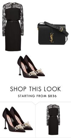 """""""Love style"""" by phamthuquynh on Polyvore featuring Elie Saab and Yves Saint Laurent"""