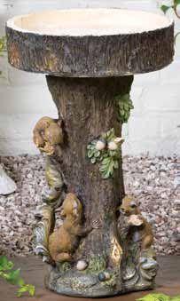 Tiny Bear Wild Bird Store - Squirrel Tree Birdbath,  105.99 (http://www.tinybearwildbirdstore.com/birdbaths/birdbaths/squirrel-tree-birdbath/)