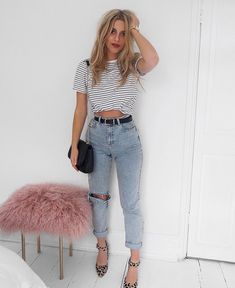 "4,173 Likes, 55 Comments - Lydia Rose (@fashioninflux) on Instagram: ""New shoes and boyfriend tees = happy Lydia. You can shop this outfit whole outfit using…"""