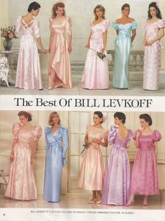 Bill Levkoff dresses from the 1980s. 80s prom dresses. I see mine. Lol